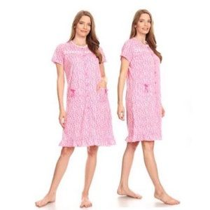 🆕 Women's Button-Down Floral Printed Nightgown